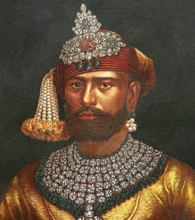The Maharaja Of Baroda (Image courtesy - learntobead.wordpress.com; Click for image source).