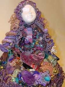 beaded art doll